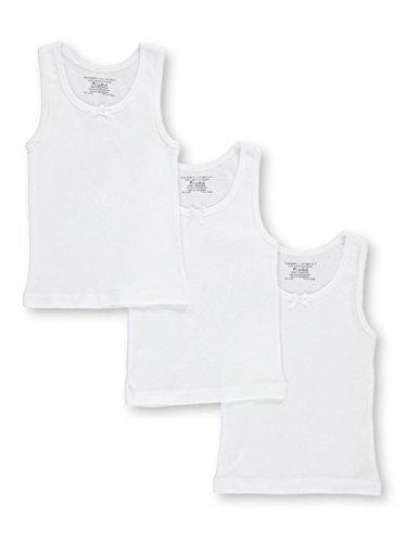 Rene Rofe Little Girls' Toddler Basic Tank Layer 3-Pack Camis - White, 4t