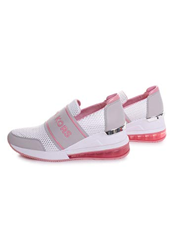 Michael Kors Felix Trainer Extreme Mesh Sneakers in Lacquered Pink Size 7