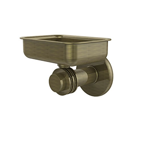 Allied Brass 932D-ABR Mercury Collection Wall Mounted Soap Dish with Dotted Accents Antique Brass