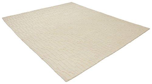 Rivet Geometric Criss-Cross Woven Wool Area Rug, 8' x 10', Cream by Rivet (Image #3)