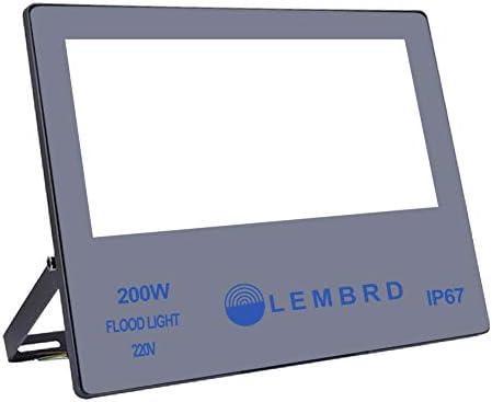 LTPAG Focos de Exterior, 200W 20000LM Ultrafino Foco LED Proyector ...