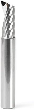 Amana Tool 51487 Solid Carbide CNC Spiral O Single Flute Aluminum Cutting 1//2 Dia x 1