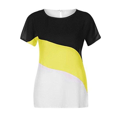 Femme Femme Tee Longra Femme Femme Chemisier Courte Haut T Top Originaux T t Shirt Tee Shirt Femme Originaux Mode Femme Jaune Shirt Tunique Shirt T en Marque Shirts Mousseline 6q67HnW