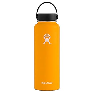 Hydro Flask 40 oz Vacuum Insulated Stainless Steel Water Bottle, Wide Mouth w/Flex Cap, Mango