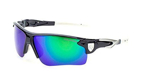 Wrap Sunglasses (White Green) - Ass Bad Sunglasses
