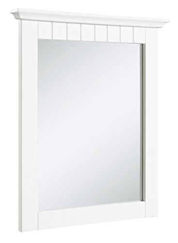 Cottage Ready-To-Assemble 21x24-Inch Mirror, White (Framed Bathroom Vanity Decorative Mirror)
