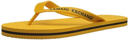 Armani Exchange Men's Classic Logo Flip-Flop Sunshine/Cypress