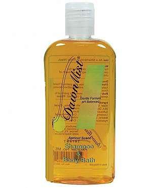 47e6e7e8ff21 DawnMist Shampoo & Body Bath - Extra Gentle Moisturizing Formula - 8 Oz  Bottle - Apricot Fragrance - Bottle