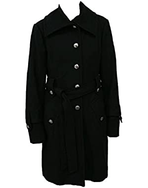 Guess Belted Wool Coat, Jacket, (M) Black 229MW341-BLK-M