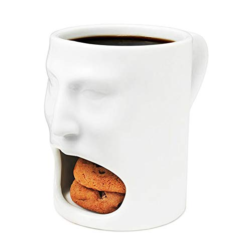 Calary Ceramic Cookies Mug Dunk Mug Cookie Holder With Biscuit Holder Mug