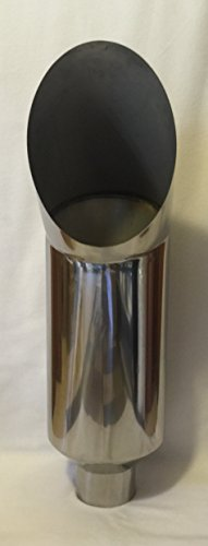 - 304 POLISHED STAINLESS STEEL CAT STYLE SMOKER EXHAUST STACK 5