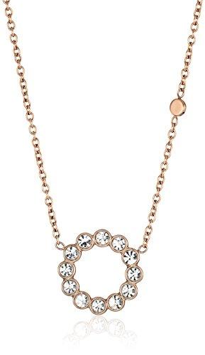 Rose Fossil Pendant (Fossil Vintage Glitz Bezel Pendant Necklace)