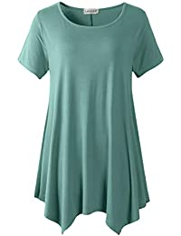 Womens Swing Tunic Tops Loose Fit Comfy Flattering T Shirt