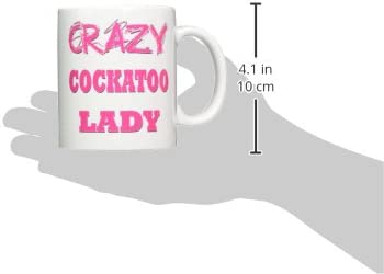 Amazon Com 3drose Mug 174989 1 Crazy Cockatoo Lady Ceramic Mug 11 Ounce Kitchen Dining