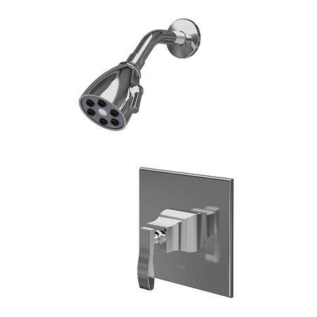 Newport Brass 3-1044BP/15A Colorado Single Handle Pressure Balanced Shower Trim Only with Metal Lever Handl, Antique Nickel (Pewter)