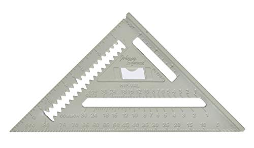 Johnson Level & Tool 1941-0700 7-Inch Johnny Square, Professional Aluminum Rafter Square