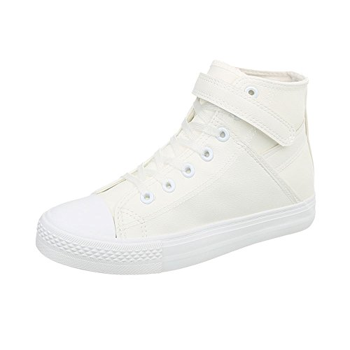 design Baskets Blanc Bl80 Plat Espadrilles Ital Chaussures High Mode Femme Sneakers 476pwP