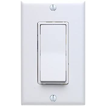 Leviton 5671-2W 15 Amp, 277VAC Switch Decora Standard, Quiet Rocker ...