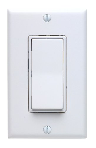 Leviton Not Available 5671-2W 15 Amp, 277VAC Switch Standard, Quiet Rocker, Matching Decora wallplate, Residential Grade, Grounding, White ()