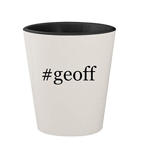 #geoff - Ceramic Hashtag White Outer & Black Inner 1.5oz Shot Glass -