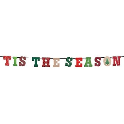 fun express felt be merry christmas garland tis the season
