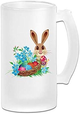 Amazoncom Tom Boy Easter Bunny Tea Cup Ground Glass Beer Mug 16