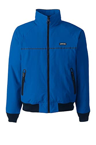 Lands' End Men's Classic Squall Jacket, L, Beacon Blue