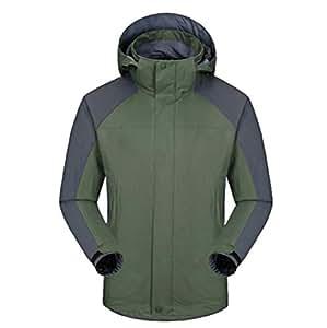 FEIYUESS Chaqueta Impermeable para Hombre 3 En 1 System Jacket (Color : Green, Tamaño : L)