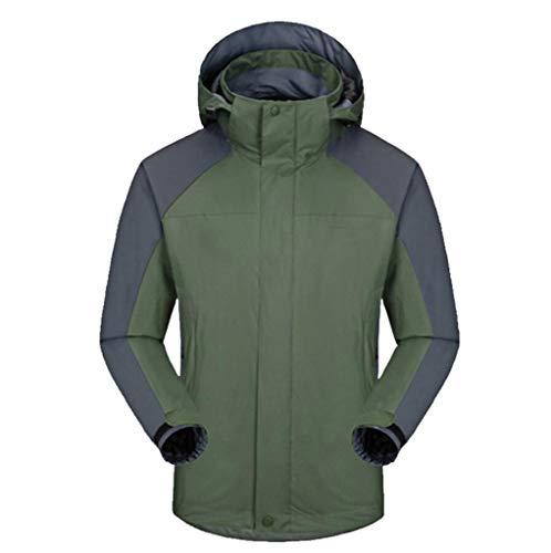 Jacket Fleece Liner Men's Detachable Jacket Green Waterproof Windproof Outdoor 0wxWqOPzv