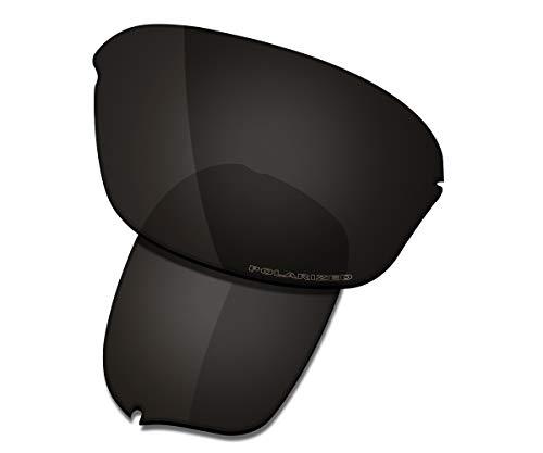 (Saucer Premium Replacement Lenses for Oakley Half Wire 2.0 Sunglasses High Definition - Carbon Black Polarized)