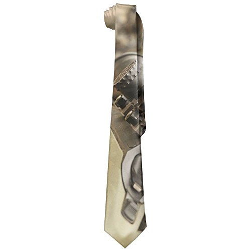Sniper Rifle Men's Fashion Polyester Solid Silk Tie (History Sniper Rifles)