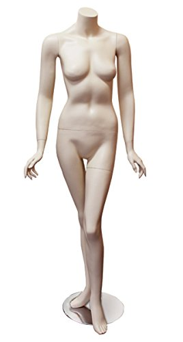 Female Fleshtone Headless Mannequin Clothes Floor Standing Display New by Bentley's Display