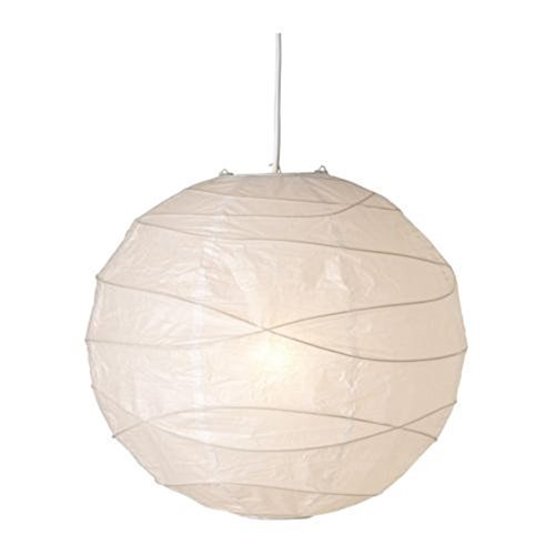 2 X IKEA REGOLIT Pendant lamp shade, white 45 cm