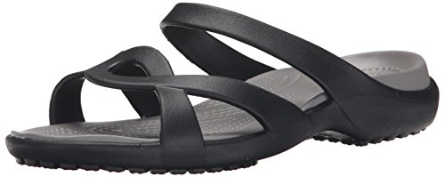 Meleen Crocs Black Donna Nero Smoke Ciabatte Twist rrx41Od