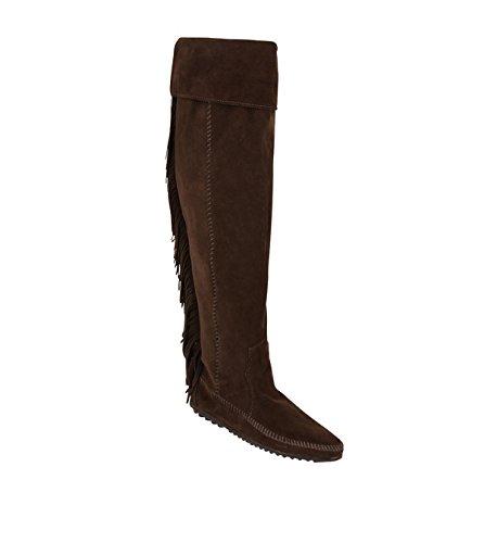 Bottes Marron Size 37 54cm Daim Longeur Chaussures Neuf Minnetonka MAJE 5vq474