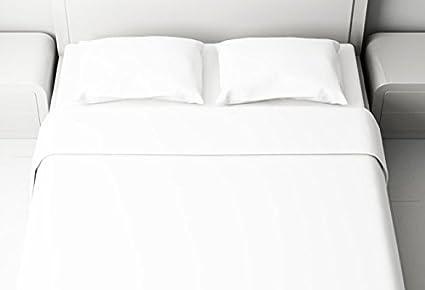 Letto Completo Matrimoniale.Completo Lenzuola Bianco Bianche 100 Cotone Italiano Per Letto