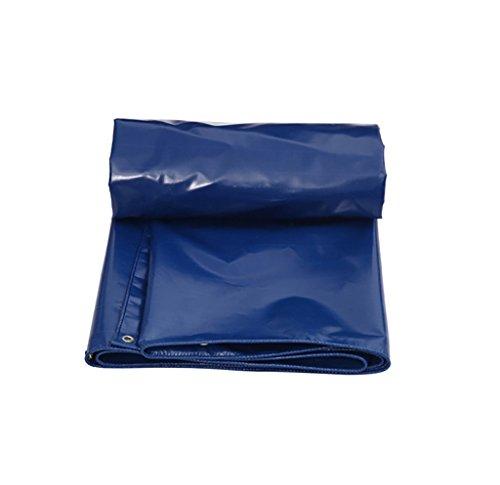 うまメリーインテリアターポリン高強度肥厚PE防雨トラック区画貨物ヤードヤードテントクロス屋外0.5 mm 0.55 kg/m2青5サイズ (サイズ さいず : 6*4M)