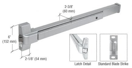 CRL Satin Stainless Steel Touch Bar Rim Panic Exit Device