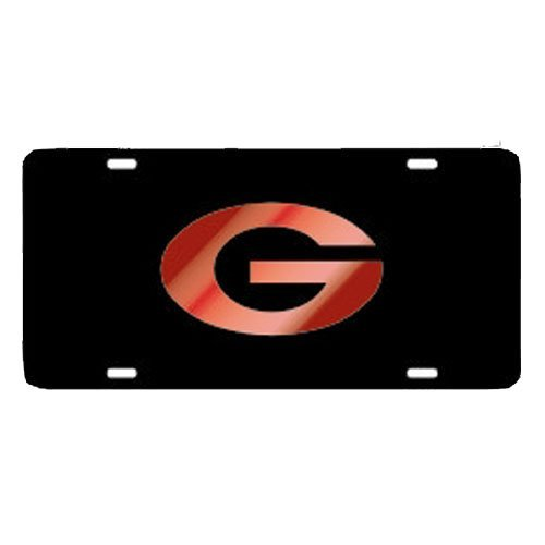 Georgia Bulldogs Black with Oval Red G Car Tag