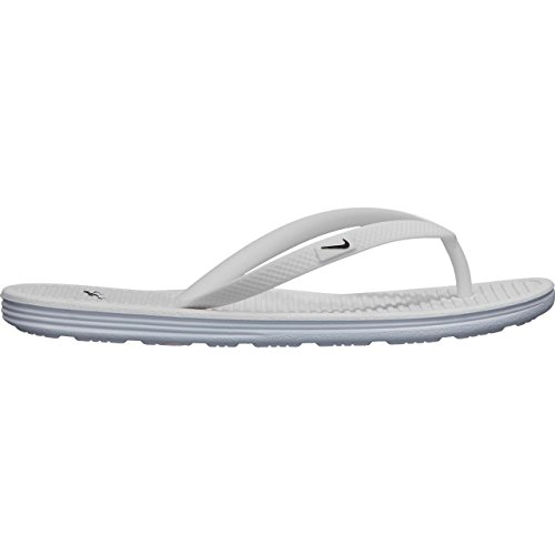 NIKE Womens Solarsoft Thong II Sandal White/Pure Platinum/Bl