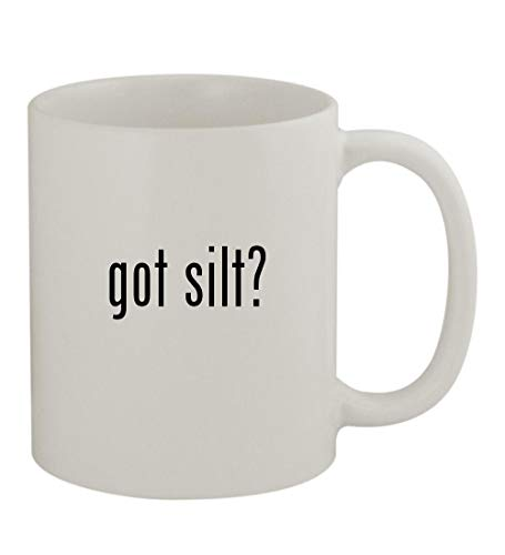 got silt? - 11oz Sturdy Ceramic Coffee Cup Mug, White