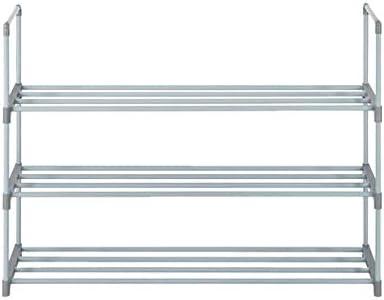 SUOTENG 3-Tier Stackable 12-Pair Shoe Rack Shoe Tower Shelf Storage Organizer for Bedroom, Entryway, Hallway, Dorm Room?and Closet Gray Color Organizers Storage
