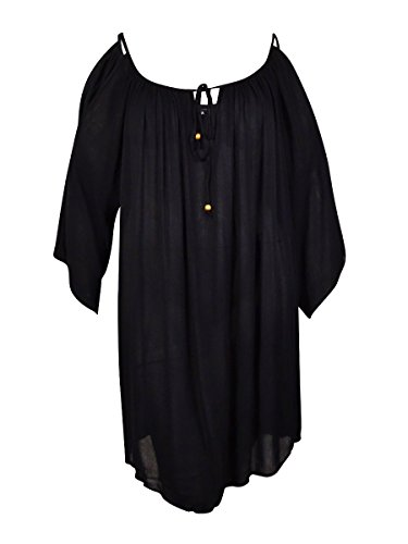 Raviya Plus Size Cold-Shoulder Cover-Up Tunic (2X)