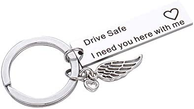 ZHOUBA Drive Safe I Need You Here with Me - Llavero con ...