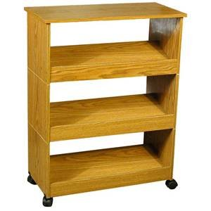 Amazoncom Oak 3 Shelf Shoe Rack With Top And Casters Home Kitchen
