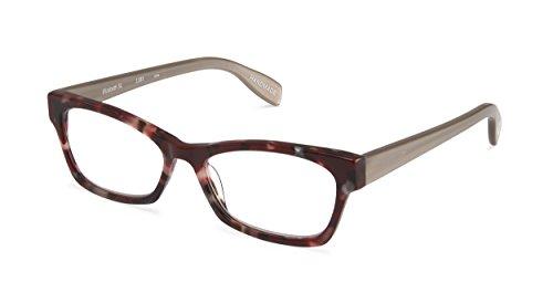 Elizabeth Street - Angular Trendy Fashion Reading Glasses for Men and Women - Burgundy Bling/Silver (+2.00 Magnification Power) (Reading Scojo Street Glasses)