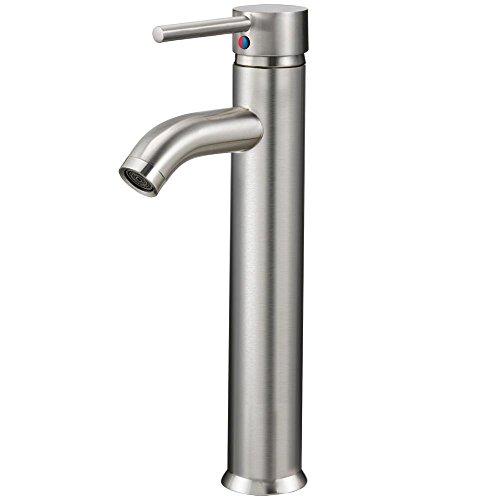 """World Pride 12"""" Vessel Bathroom Sink Faucet Brushed Nickel"""