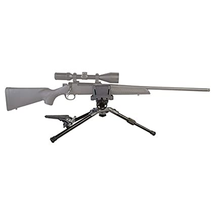 Caldwell Precision Turret Adjustable Ambidextrous Swivel and Tilt  Detachable Magazine Rifle Shooting Rest with Pistol Grip Attachment for  Outdoor