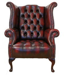 Chesterfield Fauteuil Oxblood.Designer Sofas4u Chesterfield Buttoned Seat Queen Anne High Back Wing Orthopedic Chair Uk Manufactured Antique Oxblood