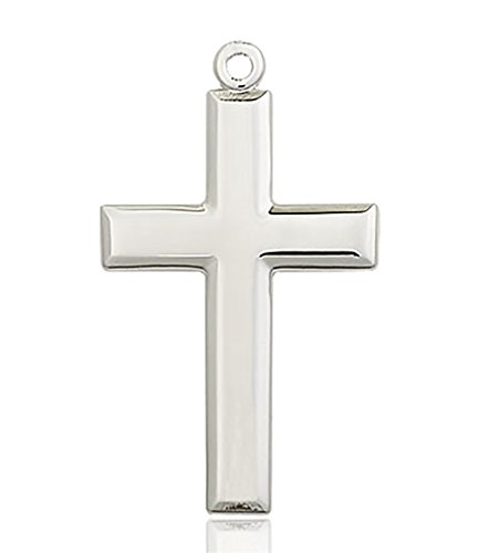 Heartland Store Classic High Polish Cross Sterling Silver Pendant for Men - Pendant Only